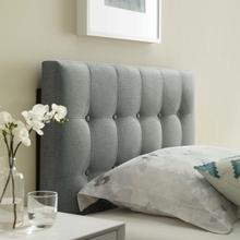 View Product - Emily Twin Upholstered Fabric Headboard in Gray
