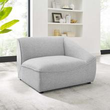 Comprise Right-Arm Sectional Sofa Chair in Light Gray