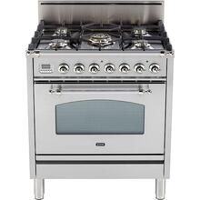 Nostalgie 30 Inch Gas Natural Gas Freestanding Range in Stainless Steel with Chrome Trim