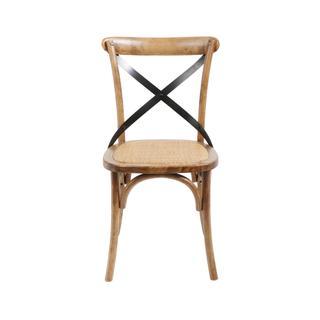 See Details - Brody X-back Side Chair (medium Brown)