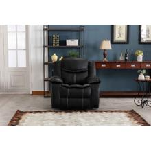 8004 BLACK Air Leather Power Recliner w/ USB Chair