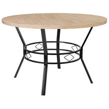 """Tremont 47"""" Round Dining Table in Bleached Sandstone-Like Finish"""