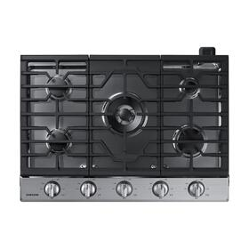 "30"" Smart Gas Cooktop with Illuminated Knobs in Stainless Steel"
