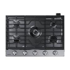 """30"""" Smart Gas Cooktop with Illuminated Knobs in Stainless Steel"""