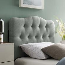 View Product - Annabel Twin Upholstered Fabric Headboard in Gray