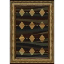 Horizons Jaded Diamonds Ebony Rugs