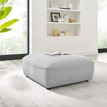 Comprise Sectional Sofa Ottoman in Light Gray