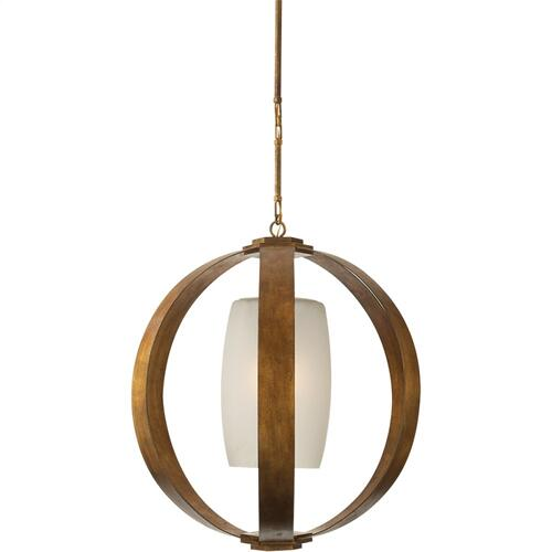 Visual Comfort CHC2531GI E. F. Chapman Metal Banded 1 Light 30 inch Gilded Iron Pendant Ceiling Light