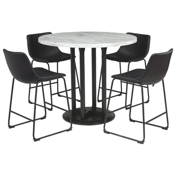 See Details - Counter Height Dining Table and 4 Barstools