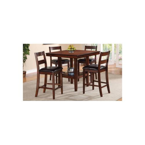American Wholesale Furniture - 5 Piece Set - Pub Table With Four Side Chairs