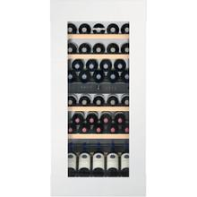 "24"" Fully Integrated White Glass Door Tip Open 51 Bottles 2 Zone Wine"
