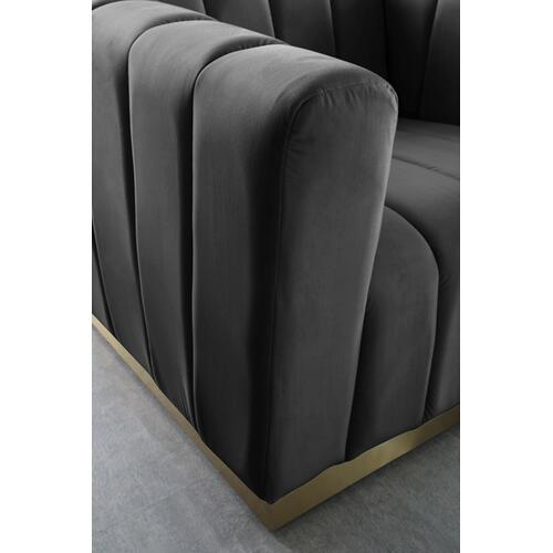 "Marlon Velvet Sofa - 86.5"" W x 34"" D x 28"" H"