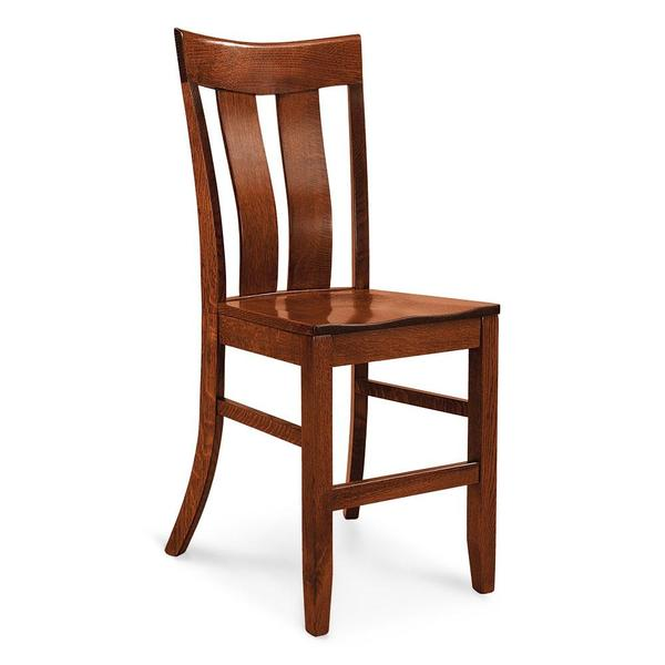 """See Details - Lincoln Stationary Barstool, 30"""" Seat Height / Fabric Cushion Seat"""