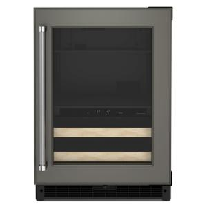 "Kitchenaid24"" Panel-Ready Beverage Center with Wood-Front Racks - Panel Ready PA"