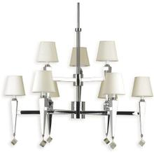 AF Lighting 6901 9-Light Chandelier- Cream Shades, 6901-9H