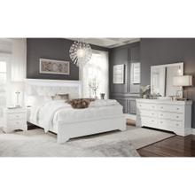 POMPEI METALLIC WHITE BED