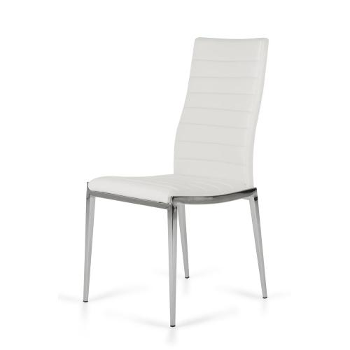 Libby - Modern White Leatherette Dining Chair (Set of 2)