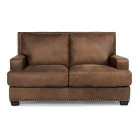 Fremont Leather Loveseat