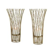 Waves of Grain Candle Holders