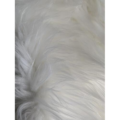 "Modern Fox Faux Fur Luxury Soft Throw by Rug Factory Plus - 50"" x 60"" / Ivory"