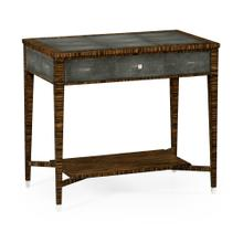 Faux Macassar Ebony & Anthracite Shagreen Sofa Table
