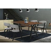 Laredo and Rowan 5 Piece Black Rectangular Dining Set