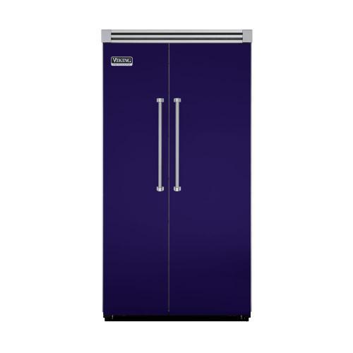 """Viking - Cobalt Blue 42"""" Side-by-Side Refrigerator/Freezer - VISB (Integrated Installation)"""