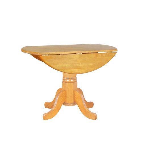 Round Drop Leaf Dining Table - Light Oak