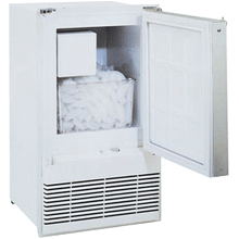 White 110V, Field reversible Marine/RV Crescent Ice Maker
