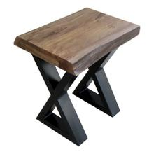 Living On the Edge Chairside Table With Black Legs