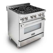 "ZLINE 30"" Professional Stainless Steel 4.0 cu.ft. 4 Gas Burner/Electric Oven Range (RA30)"