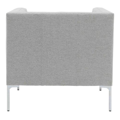 Johnson KD Fabric Tufted Accent Arm Chair, Cardiff Gray