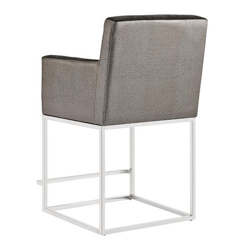 Two-Tone Modern Upholstered Counter Stool