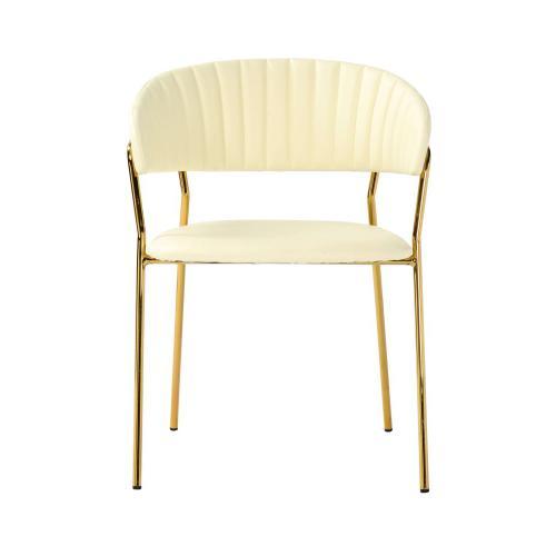 Padma Cream Vegan Leather Chair (Set of 2)