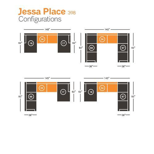 Jessa Place Armless Loveseat