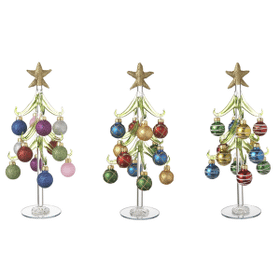 Christmas Trees with Ornaments - Lg. (6 set ppk.)
