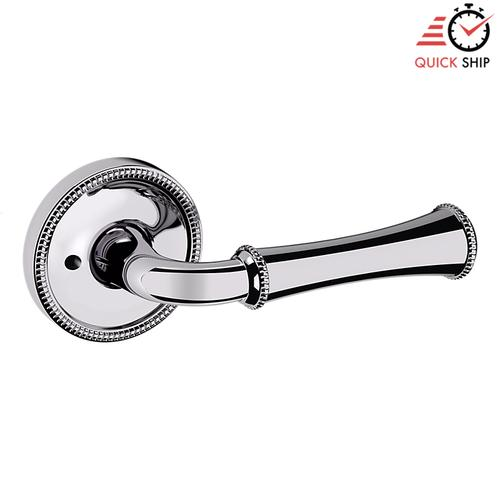 Baldwin - Polished Chrome 5118 Estate Lever with 5076 Rose
