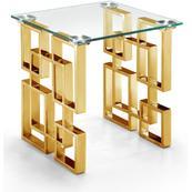 "Pierre Gold End Table - 20"" W x 20"" D x 22"" H"