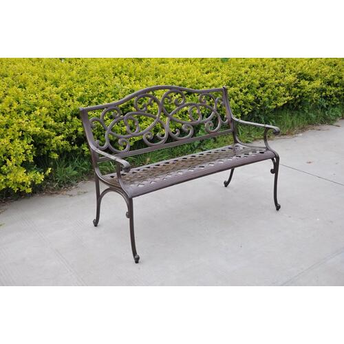 Wisteria Cast Aluminum Garden Bench
