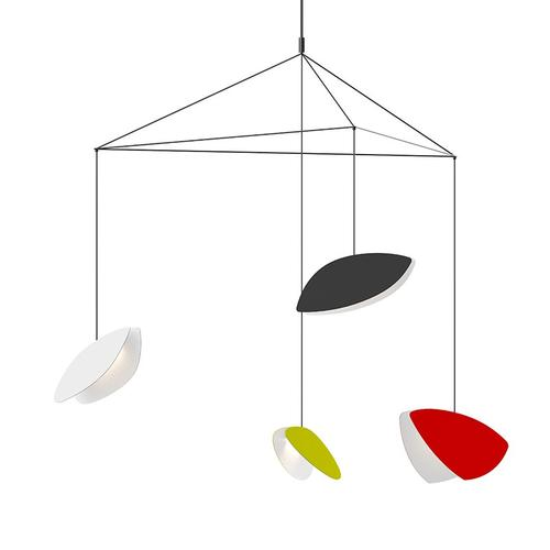 Sonneman - A Way of Light - Papillons LED Pendant [Size=4-Light Large, Color/Finish=Assorted Shade Colors]