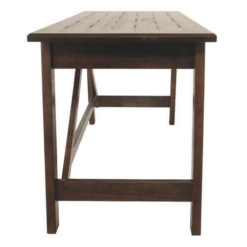Baldridge Home Office Large Leg Desk Rustic Brown