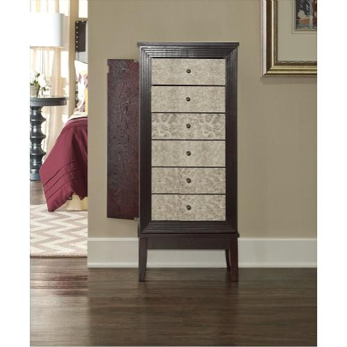 6-drawer Jewelry Armoire, Cognac