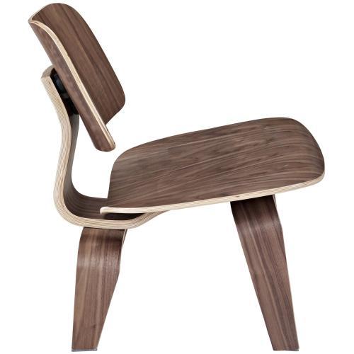 Fathom Wood Lounge Chair in Walnut