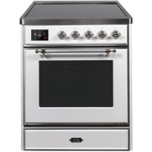 Majestic II 30 Inch Electric Freestanding Range in White with Chrome Trim