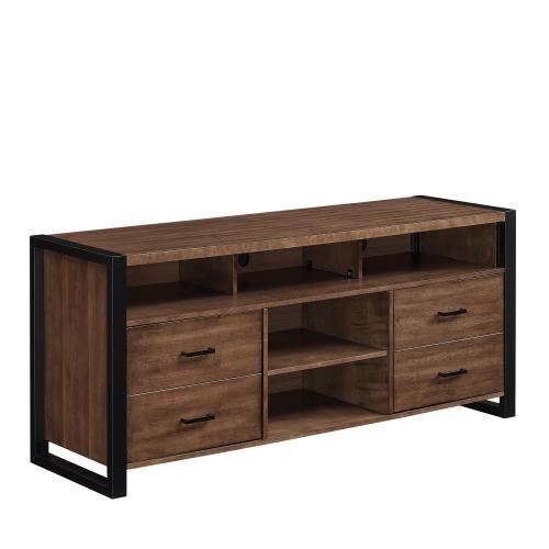 TV Stand for TVs up to 70 Inches, Old World Birch
