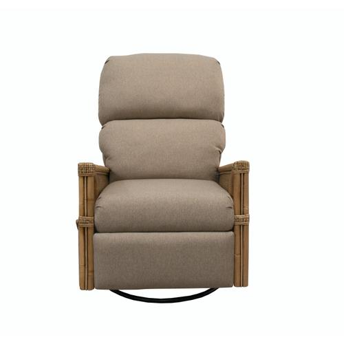 Capris Furniture - Powered Swivel Glider Recliner, Handles available in Cassic Natural Finish.