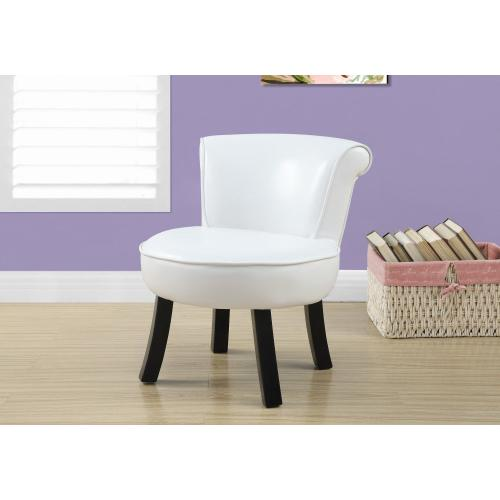 Gallery - JUVENILE CHAIR - WHITE LEATHER-LOOK