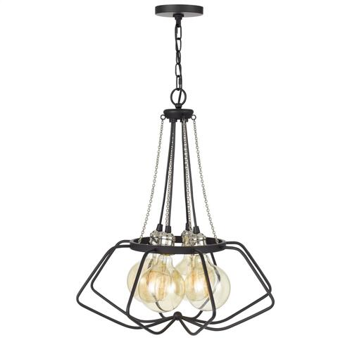 60W x 4 Ladue metal chandelier (Edison bulbs shown ARE included)