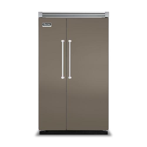 "Viking - Stone Gray 48"" Side-by-Side Refrigerator/Freezer - VISB (Integrated Installation)"