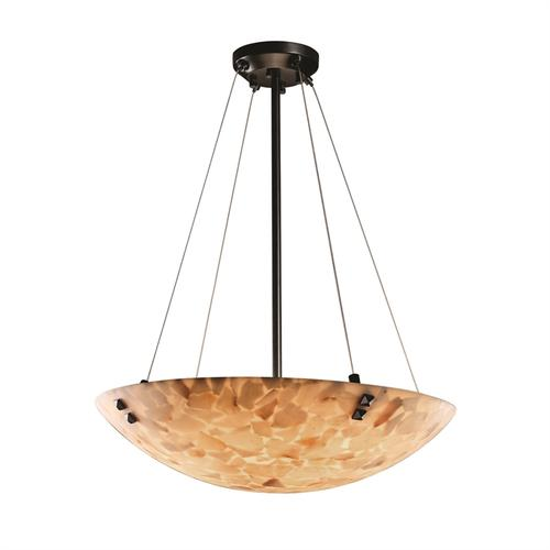 """48"""" Pendant Bowl w/ LARGE SQUARE W/ POINT FINIALS"""